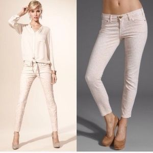 Current/Elliott Cheetah Pink Skinny Jeans Pants